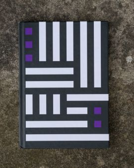 The front design of the A5 notebook, inspired by the Hill House.