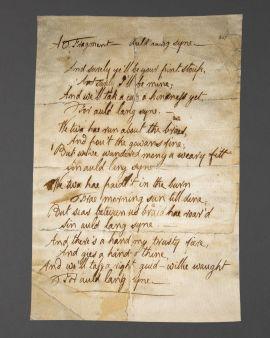 Robert Burns Auld Lang Syne Manuscript Tea Towel