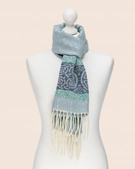 Celtic Scarf in Blue with Celtic Knot Design