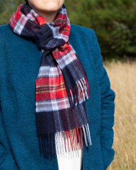Cashmere Scarf in Royal Mile Tartan by Johnstons of Elgin
