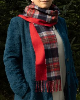 Reversible Cashmere Scarf in Royal Mile Tartan by Johnstons of Elgin