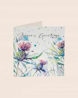 Pack of 10 Christmas Cards with Thistle Design