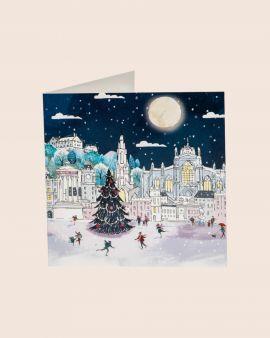 Pack of 10 Christmas Cards with Edinburgh Winter Scene
