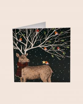 Pack of 8 Premium Christmas Cards with Stag Design
