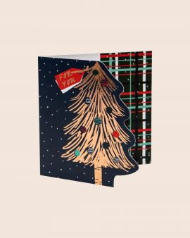 Pack of 8 Premium Christmas Cards with Christmas Tree Design