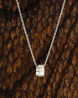 Silver Necklace with Scottish Coastline Charm Pendant
