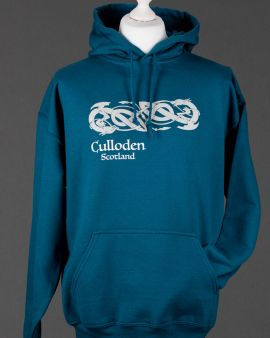 Blue Celtic Dragon Culloden Hooded Sweatshirt Small