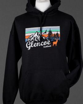 Black Mountains and Wildlife Glencoe Hooded Sweatshirt Medium