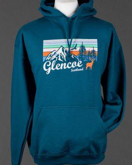 Blue Mountains and Wildlife Glencoe Hooded Sweatshirt Medium