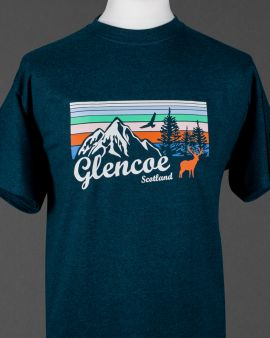 Mountains and Wildlife Glencoe T Shirt Small