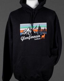 Black Mountains and Wildlife Glenfinnan Hooded Sweatshirt Medium