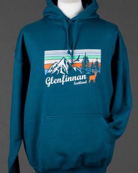 Blue Mountains and Wildlife Glenfinnan Hooded Sweatshirt Medium