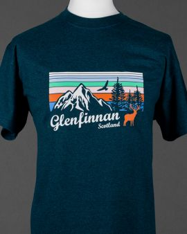 Mountains and Wildlife Glenfinnan T Shirt Small