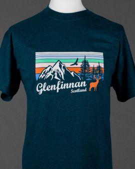 Mountains and Wildlife Glenfinnan T Shirt Medium