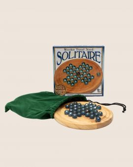 Travel Solitaire with Wooden Board