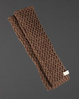 brown knitted armwarmers inspired by the television series Outlander