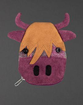 berry tweed highland cow purse