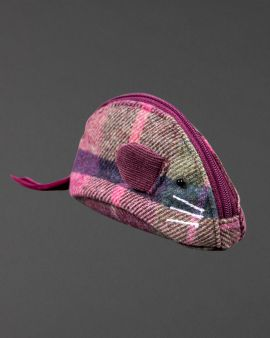 berry tweed mouse purse