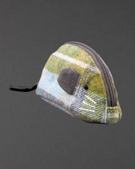 pastel tweed mouse purse