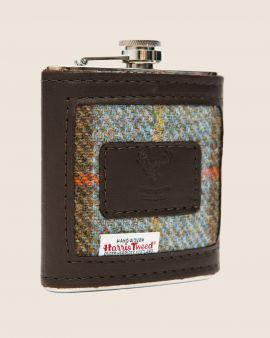 Harris Tweed and Deerskin Leather Hip Flask