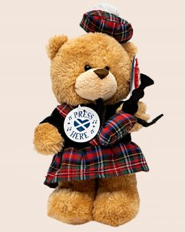 Toy Piper Bear with Musical Sound