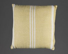 gooseberry recycled cushion with stripes vertically