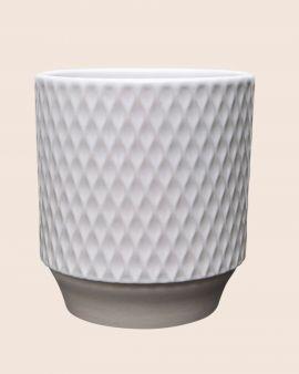 White Stoneware Planter 11cm