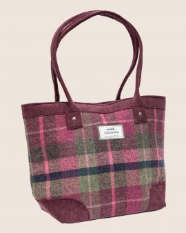 the berry tweed tote bag