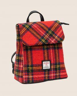 Royal Stewart Tartan Harris Tweed Backpack