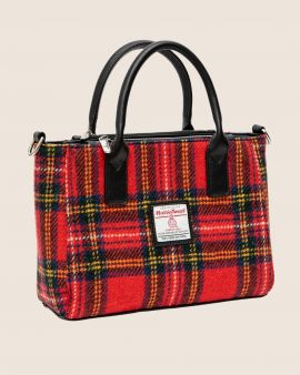 Royal Stewart Tartan Harris Tweed Small Tote Bag