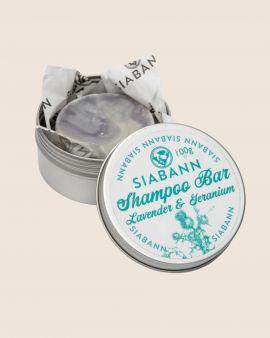 Siabann Lavendar & Geranium Shampoo Bar 100g