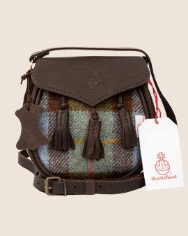 Hunting Macleod Harris Tweed & Deerskin Leather Sporran Cross Body Bag