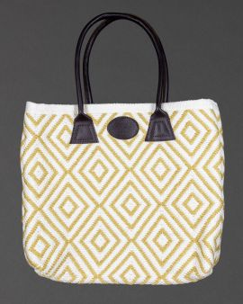 The large bag with a contrasting shoulder strap.