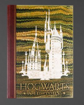 The front cover of the hardback journal: 'Hogwarts: A History.'