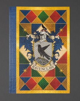 The front cover of the paperback notebook featuring the Ravenclaw house crest.