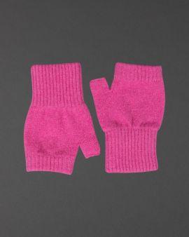 Pink Lambswool Fingerless Gloves