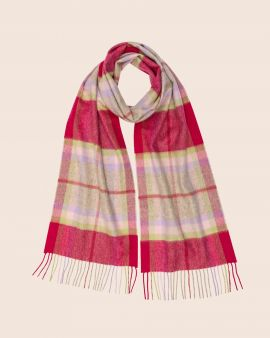 Cashmere Scarf in Gardens Check by Johnstons of Elgin