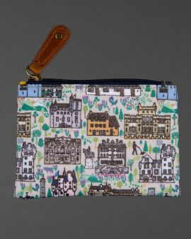 front of buildings of the national trust for scotland zip purse