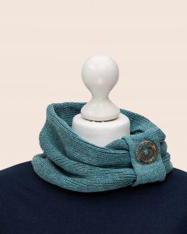 Merino & Silk Cowl in Blue