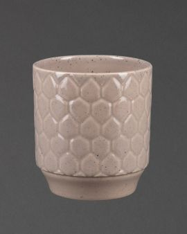 taupe stoneware planter