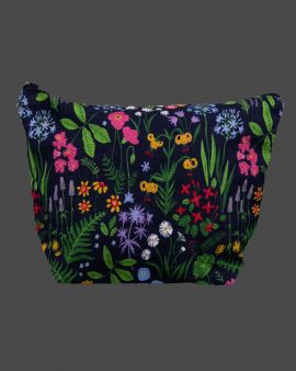front of flowers & gardens wash bag